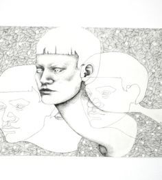 """""""Ansigter"""", 2013. Black ink pen on paper, 42 x 59, 5 cm You can buy this piece here: www.artrebels.com #artrebels #blackandwhite #art"""