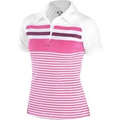 Oakley Cliff Polo Women's Short-Sleeve Sports Wear Shirt - Fuchsia / Large by Oakley. $65.00. It's a laid-back weekend and you're out with the girls to take in a friendly game. No reason not to beat the pants off them, and look good doing it. Classic stripes get the Oakley touch on our CLIFF POLO, and it's engineered with O-Form technology for resilient stretch and the comfort of moisture management. Along with movement-freeing raglan sleeves, the free fit stays close to y...