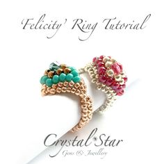 Felicity Beaded Ring Tutorial - product images  of