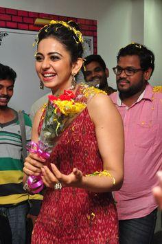 Glamorous Rakul Preet Singh Photos In Red Dress