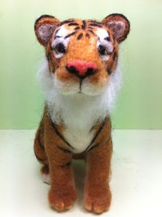 tiger - needle felted