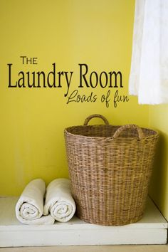 The Laundry Room Vinyl Decal Sticker  Wall Sign by MulberryCreek, $28.95