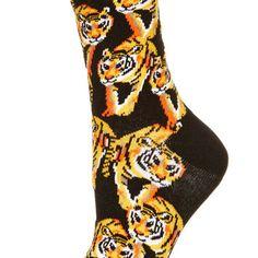 Black Tiger Ankle Socks - Ankle Socks - Tights & Socks - Clothing - Topshop USA