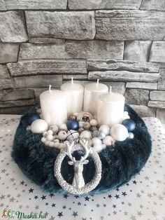 Kék elegancia (ranyomlak) - Meska.hu Decoupage, Table Decorations, Home Decor, Chic, Decoration Home, Room Decor, Dinner Table Decorations, Interior Decorating