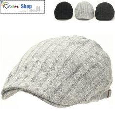 Winter Style Twist Knit L-Gray Warm Newsboy Flat cap Gatsby Ivy Hat Golf Cabbie | eBay