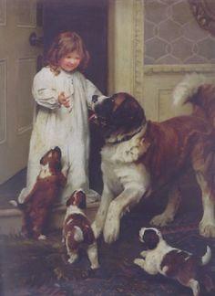 """Good Morning"" -- by Arthur John Elsley (1860 – 1952, English)"