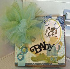 Handmade Baby Boy Scrapbook paper bag Mini Album~~~~~~ CUTE!~~~~~ #Handmade