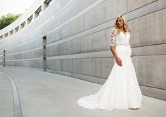 Photography: The Hudsons - Modern Photography  Location: Crystal Bridges Museum of American Art   Make up: Jodie Franklin  Dress Designer: Allure Bridals and available at She Said Yes Bridal in Rogers, Arkansas  Stylist: Brandi Rushton/She Said Yes Bridal   Accessories: Beaded Belt by She Said Yes Bridal, Earrings by Erin Cole Designs