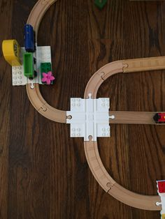 Combine wooden trains and classic blocks/bricks with Dreamup Toys Wooden Railway Block Platform. Wooden Train, Thomas The Train, Train Layouts, Educational Toys, Shop Ideas, Kids Toys, 3d Printing, Brick, Lego