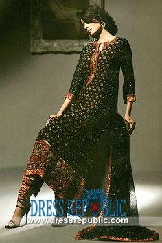 Black Prinsloo - DR9912, Pakistani Dresses in Norfolk, Richmond, Charlottesville, Alexandria,  Virginia USA by www.dressrepublic.com