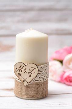 Matrimonio candela personalizzata rustico unità candela