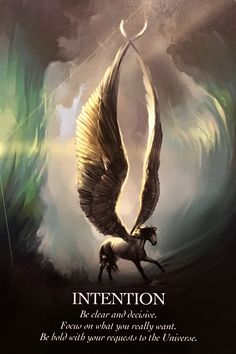 """Daily Angel Oracle Card: Intention, from the Oracle Of The Unicorns, by Cordelia Francesca Brabbs, card artwork """"Arc Of Chaos"""" Copywrite 2017 Alexandra Birchmore Intention: """"Be cl… Angel Protector, New Age, Angel Guidance, Oracle Tarot, Oracle Deck, Oldschool, Angel Cards, Law Of Attraction, Mystic"""