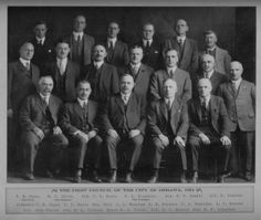 This picture is of the first Council of the City of Oshawa! On March 8th, 1924; at noon that day Oshawa became a city- Ontario's 25th city actually. To achieve city status one must have the population for it and that is exactly what happened. Between 1894 and 1924 Oshawa's population grew by 248%. Now Oshawa is 91 years old and still growing!