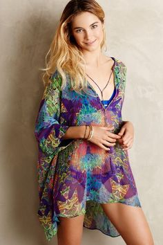 Lumosette Silk Cover-Up - anthropologie.com