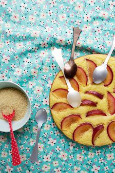 Plum and buttermilk cake