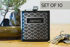 TEN Personalized flasks  groomsmen flask  best man by FactoryEnova