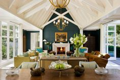 Vance Haywood, Group & Incentives Operations Manager: The Alan Pye Cottage Lounge at Huka Lodge Huka Lodge, Cottage Lounge, Beautiful Living Rooms, Outdoor Rooms, Country Style, Color Combinations, Luxury Lodges, Table Decorations, Architecture