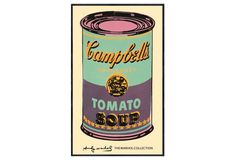 Warhol, Campbell Soup Can, Green/Purple