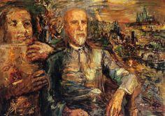 Thomas G. Masaryk, Huile sur Toile, - (Oskar Kokoschka)