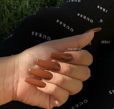 Woow brown is actually a pretty color on nails🔥😍 picked brown since I don. Woow brown is actually a pretty color on nails🔥😍 picked brown since I don't see it that often! Brown Acrylic Nails, Brown Nails, Best Acrylic Nails, Autumn Nails Acrylic, Square Acrylic Nails, Nail Picking, Aycrlic Nails, Coffin Nails, Manicure