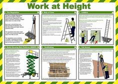 Work At Height Health and Safety Poster - Safety Services Direct