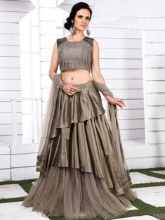 Lehenga Gown, Party Wear Lehenga, Lehenga Choli Online, Bridal Lehenga Choli, Indian Gowns Dresses, Indian Fashion Dresses, Indian Designer Outfits, Girls Boutique Dresses, Choli Dress