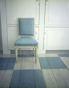 Monday Blues - cool gray and blue #checkerboardfloor
