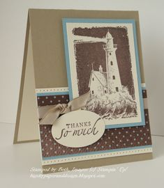 Lovely Lighthouse by bigsky - Cards and Paper Crafts at Splitcoaststampers Men Birthday, Birthday Cards For Men, Quick Cards, Cool Cards, Tourbillon, Nautical Cards, Sea Theme, Masculine Cards, Lighthouse
