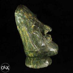 mała głowa Moai ceramika rzeźba rękodzieło prezent Poznań - image 1 Skull, Skulls, Sugar Skull