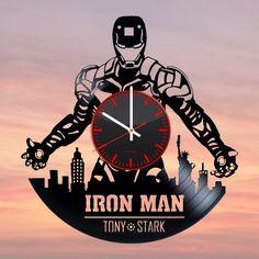 Iron Man Handmade Vinyl Record Wall Clock Fan Gift - VINYL CLOCKS