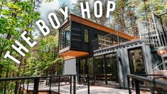 The Box Hop Airbnb Tour! | Shipping Container Home! - YouTube