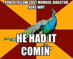 thespian peacock