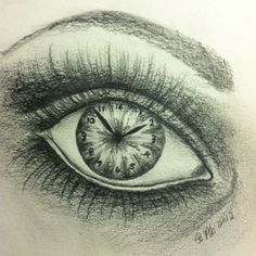 Insomnia through my eyes ~ graphite stick on 93lb Bee Paper. By Patty Abernathy, 2012