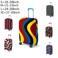 Travel Luggage Cover Colored Ice Cream Sunflower Art Suitcase Protector Fits 18-20 Inch Washable Baggage Covers