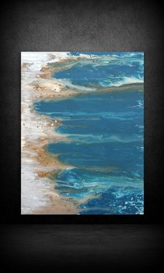 "Art Painting Acrylic Paintings Abstract LARGE Wall Art Coastal Beach Home Decor on Canvas by LDawningScott 30 x 40"" by LDawningScott on Etsy https://www.etsy.com/listing/214536143/art-painting-acrylic-paintings-abstract"