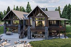 Lake House Plans, Mountain House Plans, Best House Plans, Dream House Plans, House Floor Plans, Cabin Plans, Dream Houses, Mountain Cottage, Lake Mountain