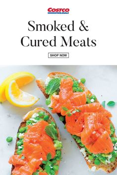 Serve pre-sliced Smoked New Zealand King Salmon at your next brunch! Smoked with Manuka wood, this salmon is cured with sea salt and brown sugar. Shop now at Costco.com. Smoked Fish, Smoked Salmon, King Salmon, Meat Shop, Salmon Fillets, Light Recipes, New Zealand, The Cure, Brunch