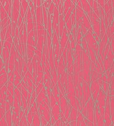 Grasses by Clarissa Hulse - Metallic Silver / Hot Pink : Wallpaper Direct Harlequin Wallpaper, Pink Wallpaper, Pink Pewter, Hot Pink Background, Stoff Design, Wallpaper Online, Designer Wallpaper, Wallpaper Designs, True Colors