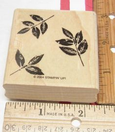Christmas Rubber Stamp Wood Mounted Craft Smart Holiday Tree Eat Drink Be Merry