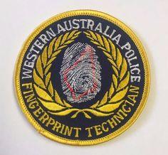 Western Australia Police Department Fingerprint Technician Cloth Patch  | Collectibles, Historical Memorabilia, Police | eBay!