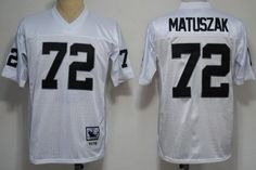 Oakland Raiders #72 John Matuszak White Throwback Jersey
