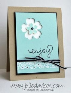 Perfect Punch Pair: Petite Petals + Pansy Punch - Julies Stamping Spot -- Stampin Up! Project Ideas Posted Daily