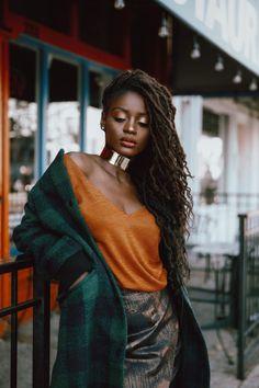 Goddess Locs Styled By Hair: Dark Skin Beauty, Hair Beauty, Black Beauty, Curly Hair Styles, Natural Hair Styles, Locs Styles, Moda Afro, Photographie Portrait Inspiration, African Beauty