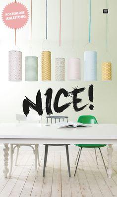 Mit unseren stylishen Laternen aus Stoff gebt ihr jedem Raum einen gemütlichen Touch. Und wie einfach und schnell die Laternen gebastelt sind, zeigen wir euch hin unserer kostenlosen DIY Anleitung. #tutorial #ideas #interior #design #stofflaterne