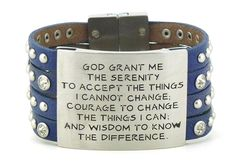 NEW, Just In - Good Works Serenity Prayer Wisdom Magnetic Closure Bracelets! 11 colors to choose from... Visit our boutique for more Serenity Prayer styles and colors - www.Hangin-Around.com