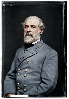 black-and-white-american-civil-war-photo-in-color  Gen. Robt E Lee of the confederacy