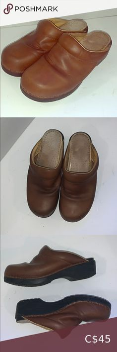 Euro Dan EuroFlex Clogs for Comfort These Re in GUC with very minor wear in the soles. They are genuine soft leather upper and soft leather insoles with a rubber sole. These were designed for pure comfort! These are the perfect weekend shoes!! Shoes Mules & Clogs Mules Shoes, Sandals, Moccasins, Soft Leather, Euro, Clogs, Dan, Pure Products, Brown