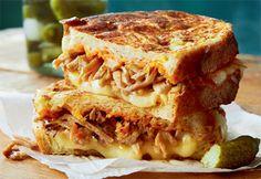Sandwichs fondants au #porc effiloché