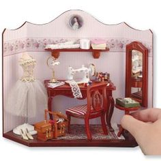 Sewing Room Vignette - The Magical Dollhouse