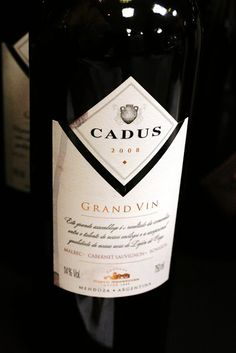 Château de Jane: Aprendendo com quem mais sabe! Qualquer exemplar da Cadus faz todo sentido para mim. Vinhos saborosos e justos.